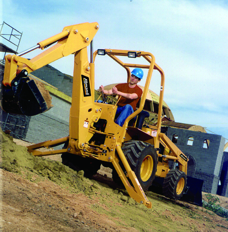 Allmand Backhoe Features Servo-Controlled Hydrostatic